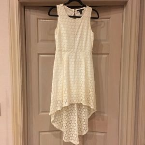 Forever 21 White High Low Dress